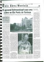 El general Schwarzkopf caza una cabra en Els Ports de Tortosa.
