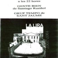 """Cicle de teatre a la Lira amb l'obra """"Gente bien"""" de Santiago Rusinyol pel Grup Tempo de Sant Jaume: Dissabte 1 de desembre del 2007 a les 22h"""