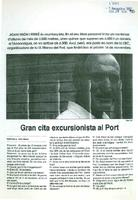 Gran cita excursionista al Port.