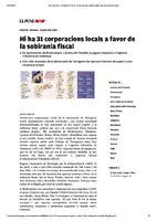 Hi ha 31 corporacions locals a favor de la sobirania fiscal