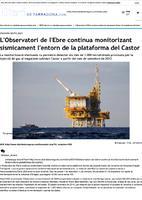 L'Observatori de l'Ebre continua monitoritzant sísmicament l'entorn de la plataforma del Castor