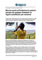 Movem porta al Parlament la petició perquè els guaites forestals no siguin substituïts per càmeres.