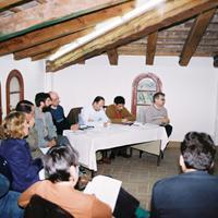 Reunió al Casal Municipal de l'Hort de Cruells, any 2002