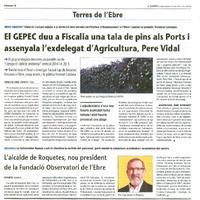 El GEPEC duu a Fiscalia una tala de pins als Ports i assenyala l'exdelegat d'Agricultura, Pere Vidal