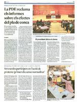 """Set escoles participen en l'acció de protesta """"primer dia sense normalitat"""""""