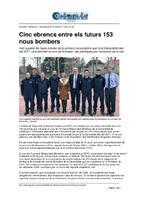 Cinc ebrencs entre els futurs 153 nous bombers.