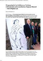 El passeig de les Cultures a Tortosa s'il·lustrarà amb escultures d'Ignasi Blanch.