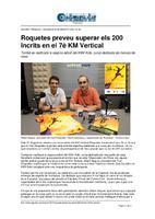 Roquetes preveu superar els 200 inscrits en el 7è Km Vertical
