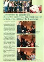 Lliurament de premis a la iniciativa comercial i reconeixement al comerç centenari de Catalunya.