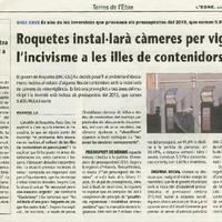 Roquetes instal·larà càmeres per vigilar l'incivisme a les illes de contenidors