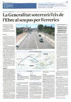 La Generalitat soterrarà l'eix de l'Ebre al seu pas per Ferreries