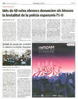 Més de 60 veïns ebrencs denuncien als Mossos la brutalitat de la policia espanyola l'1-O.
