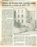 L'edifici del Noviciat dels Jesuites podria destinar-se a centre de BUP i FP