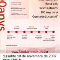 """Cicle de conferències: """"Història, present i futur dels Països Catalans: 300 anys de la Guerra de Successió"""""""
