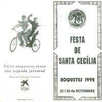 Programa d'actes de la Festa de Santa Cecília, 1992