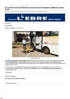 El Consell Comarcal del Baix Ebre suspèn el servei de transport adaptat als centres de dia.