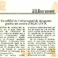 Un edifici de l'observatori de Roquetes podria ser centre d'EGB i d'FP.