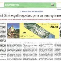 Albert Giné: orgull roquetenc per a un nou repte assolit