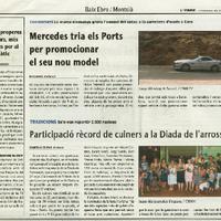 Mercedes tria els Ports per promocionar el seu nou model