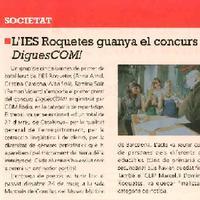 L'IES Roquetes guanya el concurs DiguesCOM!