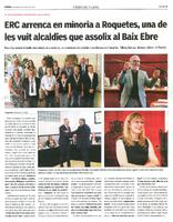 ERC arrenca en minoria a Roquetes, una de les vuit alcaldies que assoleix al Baix Ebre.