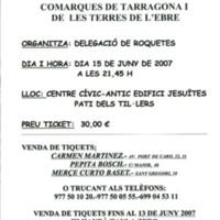 Sopar a benefici de la LLiga contra el càncer: Comarques de Tarragona i les Terres de l'Ebre