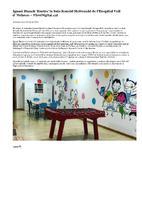 """Ignasi Blanch """"il·lustra"""" la Sala Ronald McDonald de l'Hospital Vall d'Hebron."""