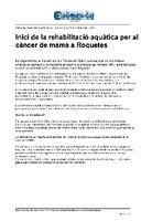 Inici de la rehabilitació aquàtica per al càncer de mama a Roquetes.
