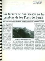 Las fuentes se han secado en las cumbres de los Ports de Beseit