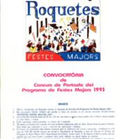 Convocatòria de concurs de portada del Programa de Festes Majors 1993