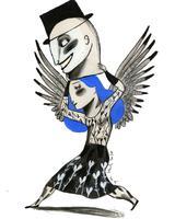 Il·lustració 'Em reinvento sovint' d'Ignasi Blanch per a Catorze.cat, 2020