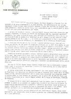 Comunicat del CD Roquetenc a Joan Gaspar Solves del Grup Hotels Husa, 1988