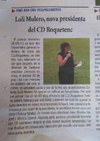 Loli Mulero, nova presidenta del CD Roquetenc