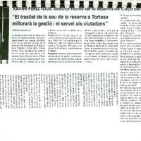 """Xavier Pérez Tous, director tecnic de la Reserva de Caça del Ports: """"El trasllat de la seu de la reserva a Tortosa millorarà la gestió i el servei als ciutadans"""""""