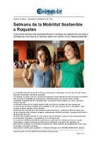 Setmana de la Mobilitat Sostenible a Roquetes.