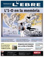 l'1-0, en la memòria: Millor portada de l'any en els premis de l'associacio catalana de premsa comarcal acpc