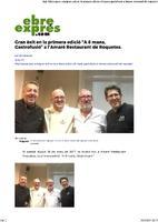 """Gran èxit en la primera edició """"A 8 mans, Gastrofusió"""" a l'Amaré Restaurant de Roquetes."""