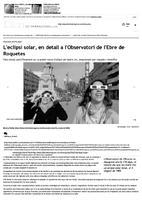 L'eclipsi solar, en detall a l'Observatori de l'Ebre de Roquetes