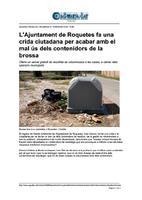 L'Ajuntament de Roquetes fa una crida ciutadana per acabar amb el mal ús dels contenidors de la brossa.