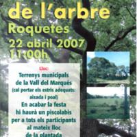 Festa de l'arbre: Roquetes, 22 d'abril del 2007