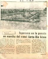 Esperanza en la puesta en marcha del Canal Xerta-Riu Sénia