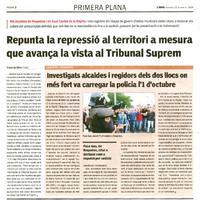 Investigats alcaldes i regidors dels dos llocs on més fort va carrergar la policia l'1 d'octubre.
