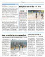 Líder en solitari a primera catalana