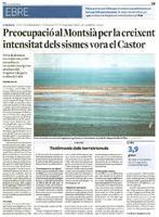 Preocupació al Monstià per la creixent intensitat dels sismes vora el Castor