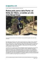 Rutes  pels parcs dels Ports i el Delta de l'Ebre, a només un clic amb Street View.