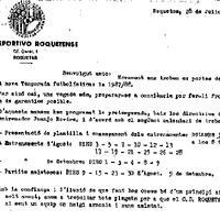Calendari del CD Roquetenc per a l'inici de la temporada 1987/1988