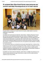 El projecte Baix Ebre Avant forma onze persones per conduir activitats fisicoesportives en el medi natural
