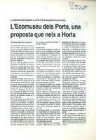 L'Ecomuseu dels Ports, una proposta que neix a Horta