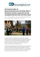 El Consorci per al Desenvolupament del Baix Ebre i Montsià acosta experiències de custòdia del territori al món local.