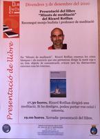 """Presentació del llibre """"minuts de meditació"""" de Ricard Rotllan, monjo budista i professor de meditació"""